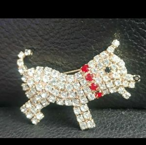 Golden Pup Pendant with DIAMONDS